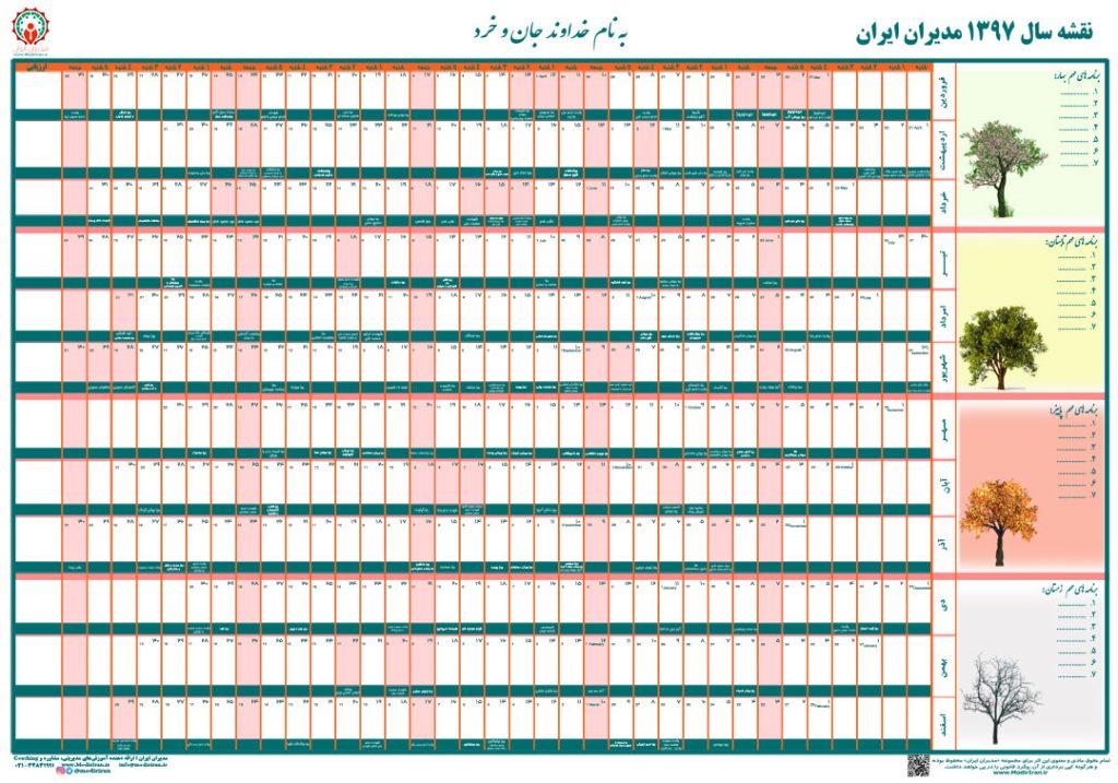 نقشه سال مدیران ایران - سال 1397